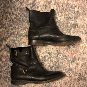 Joie leather motorcycle boots 7.5 37.5